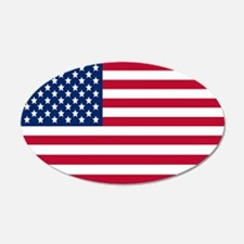 Large Oval American Flag Wall Decal