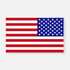 Reversed USA Flag Rectangle Car Magnet