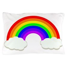 Rainbow in the clouds Pillow Case