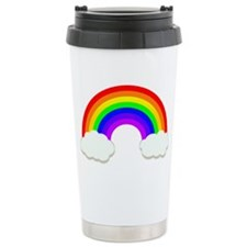Rainbow in the clouds Travel Mug