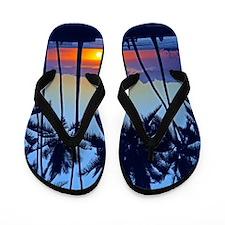 Waikiki Sunset Hawaii Tropical Flip Flops