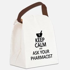Keep Calm and Ask Your Pharmacist Canvas Lunch Bag