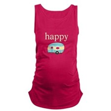 Personality_HappyCamper.png Maternity Tank Top