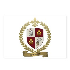 GUIMOND Family Crest Postcards (Package of 8)