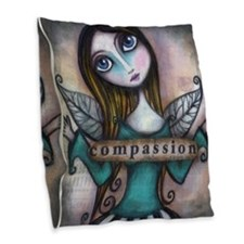 Compassion Burlap Throw Pillow