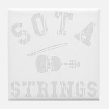 SOTA Strings worn Tile Coaster