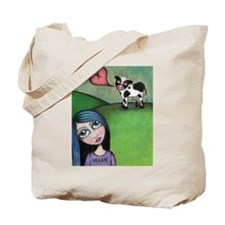 Vegan Girl Tote Bag
