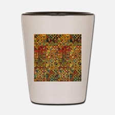 Colorful Tribal Aztec  Geometric  Seaml Shot Glass