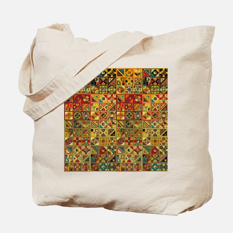 Colorful Tribal Aztec  Geometric  Seamles Tote Bag