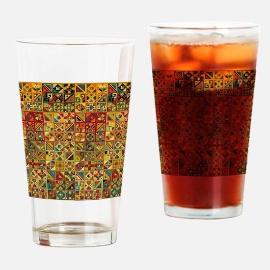 Colorful Tribal Aztec  Geometric  S Drinking Glass