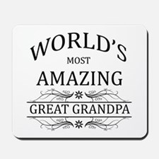 World's Most Amazing Great Grandpa Mousepad