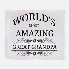 World's Most Amazing Great Grandpa Throw Blanket