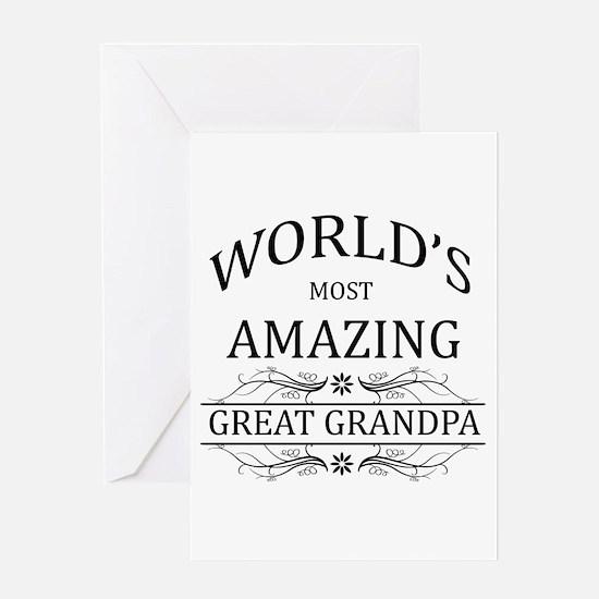 World's Most Amazing Great Grandpa Greeting Card