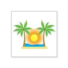 sunny palm tree design Sticker