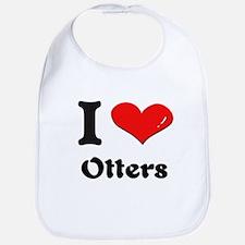 I love otters  Bib