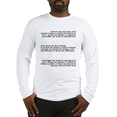 Unique Serenity Prayer Long Sleeve T-Shirt