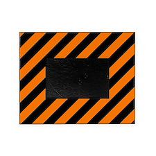 Orange and Black Stripes Picture Frame