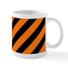 Orange and Black Stripes Mugs
