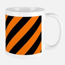Orange and Black Stripes Mugs