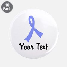 "Personalized Periwinkle Ribb 3.5"" Button (10 pack)"