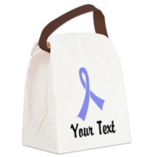 Personalized Periwinkle Ribbon Aw Canvas Lunch Bag