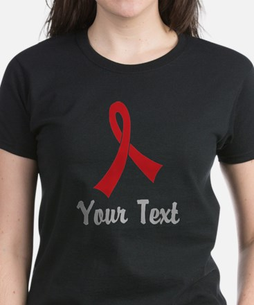 Personalized Red Ribbon Aware Tee