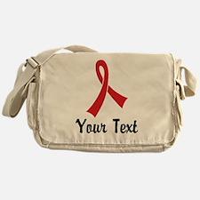Personalized Red Ribbon Awareness Messenger Bag