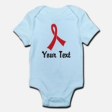 Personalized Red Ribbon Awareness Infant Bodysuit