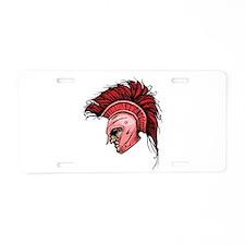 Crimson Spartan Aluminum License Plate