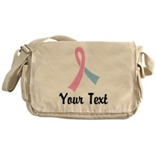 Personalized Pink and Blue Ribbon Aw Messenger Bag