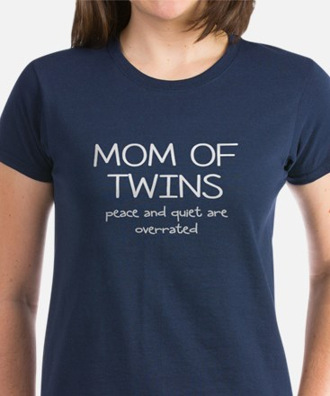 twins mom and peace T-Shirt