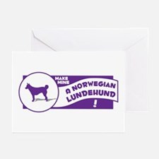 Make Mine Lundehund Greeting Cards (Pk of 10)