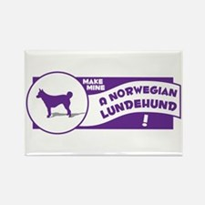 Make Mine Lundehund Rectangle Magnet (100 pack)