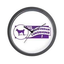 Make Mine Lundehund Wall Clock