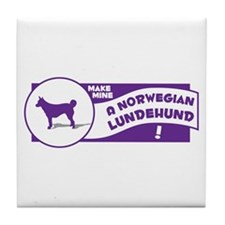 Make Mine Lundehund Tile Coaster