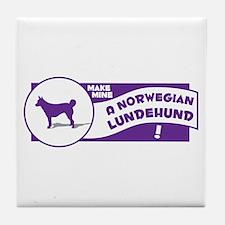 Make Mine Lundehund Tile Coaster