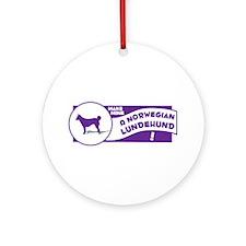 Make Mine Lundehund Ornament (Round)