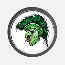 Green Spartan Wall Clock