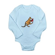 Kangaroo Kick Boxer Boxing Cartoon Body Suit