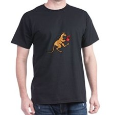Kangaroo Kick Boxer Boxing Cartoon T-Shirt