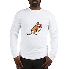 Kangaroo Kick Boxer Boxing Cartoon Long Sleeve T-S