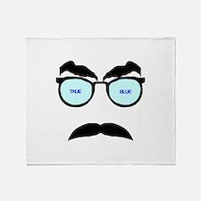 True Blue Throw Blanket