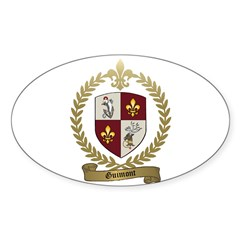 GUIMONT Family Crest Oval Decal