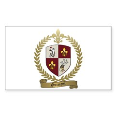 GUIMONT Family Crest Rectangle Decal