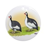 Pied Guineas Ornament (Round)