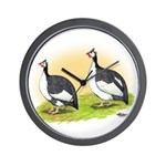 Pied Guineas Wall Clock