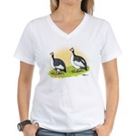 Pied Guineas Women's V-Neck T-Shirt