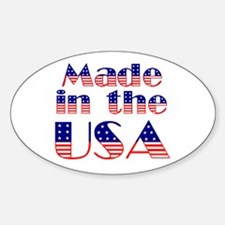 Made in the USA Oval Decal