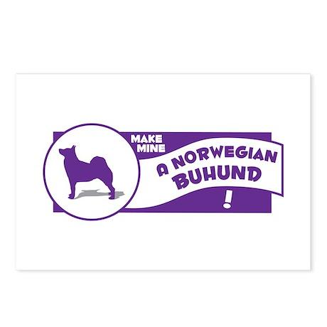 Make Mine Buhund Postcards (Package of 8)