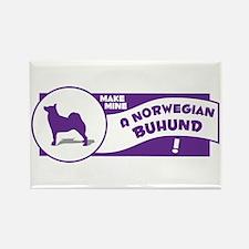 Make Mine Buhund Rectangle Magnet
